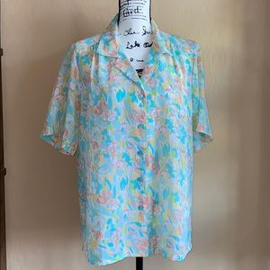 Donnkenny | Women's Print Button Up Blouse